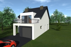 Projekt domu na wąskiej działce w  Zwoleniu