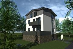 Projekt nadbudowy budynku mieszkalnego w Lesznie