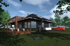 Projekt domu w konstrukcji kanadyjskiej w gminie Przytyk